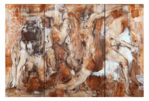 passion I Tanz -Pastell/Acryl auf Lwd. 155x230 cm