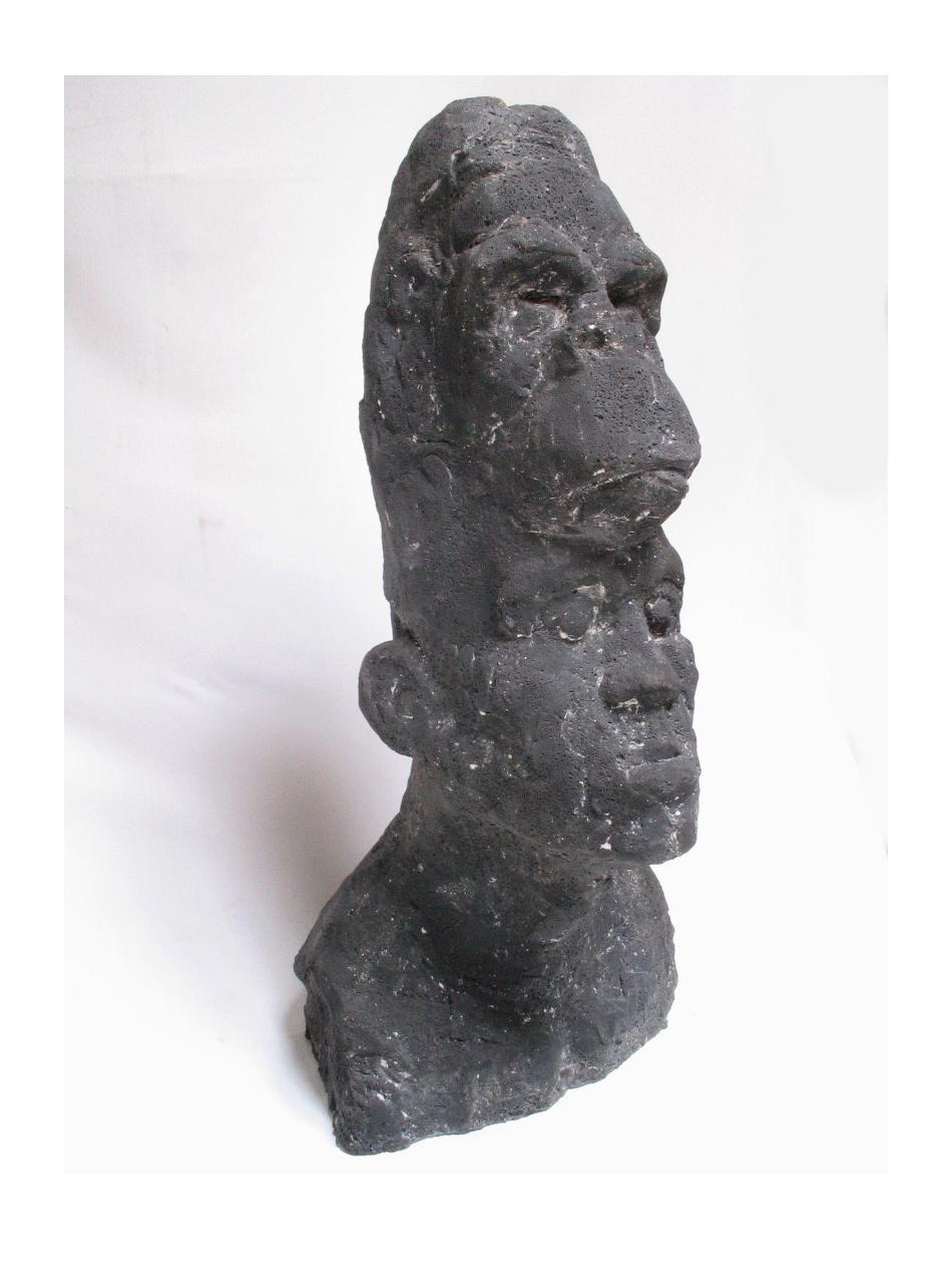 23.Doppelkopf Gorilla-Betonguss, h 76cm